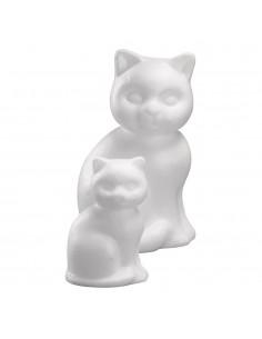 Chat en polystyrène - 23 cm