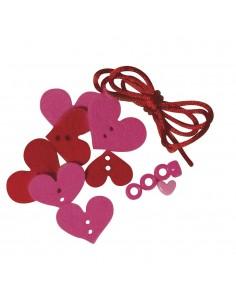 Bracelet Cœurs en feutrine...