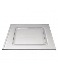 Plaque en verre - 22 x 22 cm