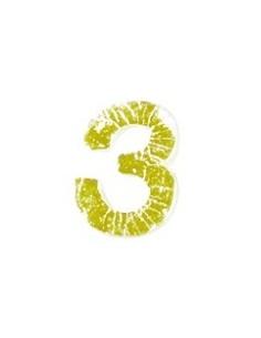 """Chiffres 3 en Cire """"Or"""" - 9 mm"""