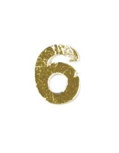 """Chiffres 6 en Cire """"Or"""" - 9 mm"""