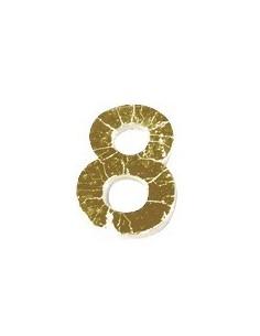 "Chiffre 8 en Cire ""Or"" - 9 mm"