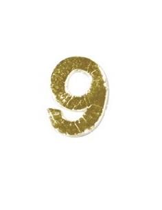 """Chiffres 9 en Cire """"Or"""" - 9 mm"""