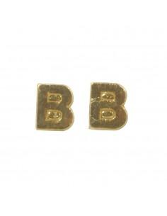 """Lettres B en Cire """"Or"""" - 9 mm"""