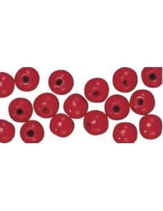 """Perles en Bois """"Rouge"""" - Ø..."""