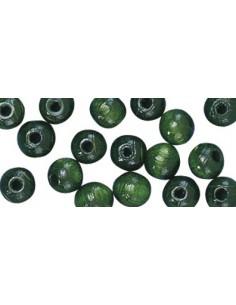 """Perles en Bois """"Vert Moyen""""..."""