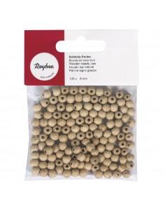 Perles en Bois Brutes - Ø 6 mm