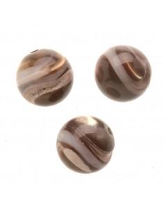 "Perles de Nacre ""Brun"" - Ø..."