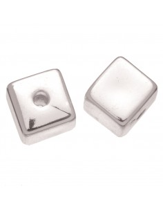 """Perles Cube """"Argent"""" - 12 x..."""