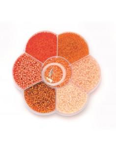 """Mix de Perles """"Orange"""""""