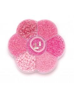 """Mix de Perles """"Rose"""""""