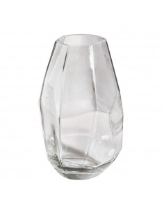 Vase en verre Facetté -...