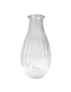 Vase en verre avec Rayures...