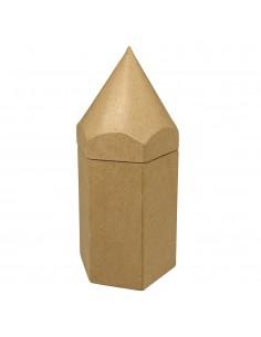 Boîte en forme de crayon en...
