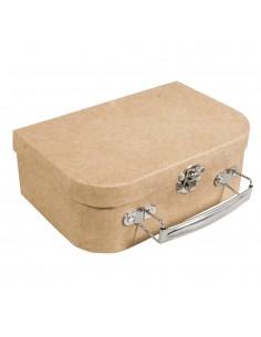 Valise en papier-mâché avec...