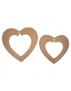 Pendentifs en forme de cœur...