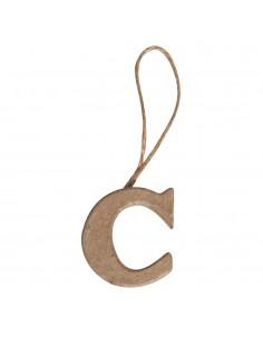 """Lettre """"C"""" en papier-mâché..."""