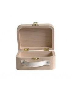 Petite valise en bois avec...