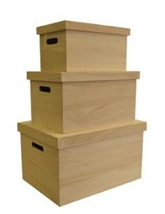 Set de 3 boîtes en bois...