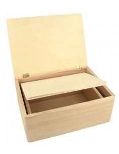 Set de 2 boîtes en bois...