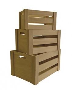 Caissettes en bois avec...
