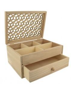 Boîte en bois avec tiroir &...