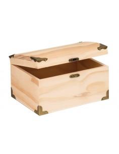 Coffre à trésor en bois -...