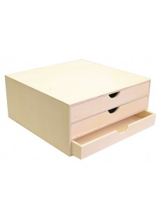 Boîte en bois avec 3...