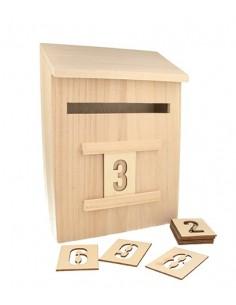 Boîte à lettres en bois -...