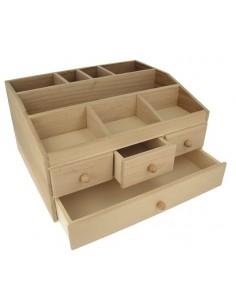 Boîte en bois avec de...