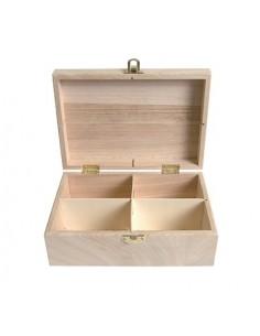 Boîte à thé Carrée en bois...