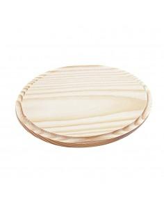 Platine ovale en bois - 9 x...