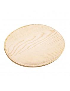 Platine ovale en bois -...
