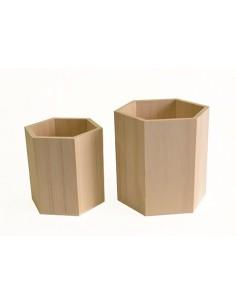Set de 2 vases hexagonales...