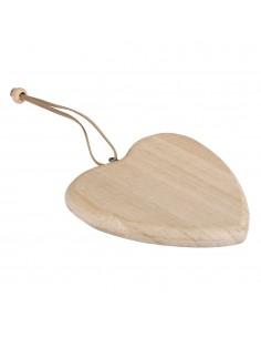 Pendentif en bois en forme...