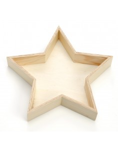 Assiette en bois en forme...