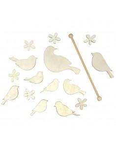Kit Oiseaux & fleurs en...