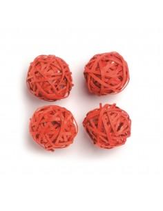 """Boules en rotin """"Orange"""" -..."""
