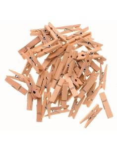 Pinces à linge en bois -...