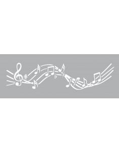 """Pochoir """"Musique"""" - 15 x 40 cm"""
