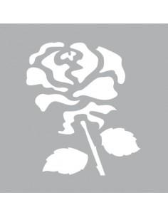 """Pochoir """"Rose"""" - 8 x 8 cm"""