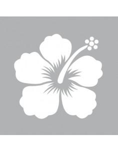 "Pochoir ""Hibiscus"" - 8 x 8 cm"