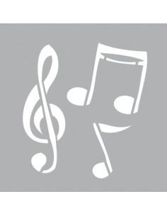 """Pochoir """"Musique"""" - 8 x 8 cm"""