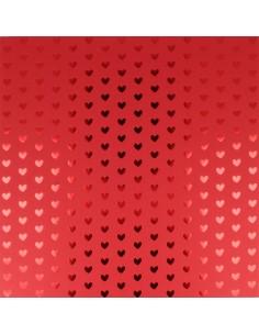 """Feuille Foil Tone Cœur """"Red..."""