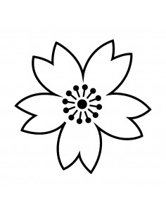 "Tampon en Bois ""Fleurs"" -..."