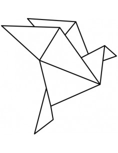 "Tampon en Bois ""Origami..."