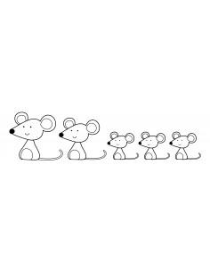 "Tampon en Bois ""Mice..."