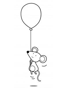 """Tampon en Bois """"Mouse..."""
