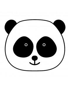 "Tampon en Bois ""Panda Head""..."