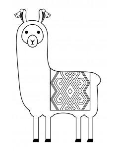 """Tampon en Bois """"Alpaca"""" -..."""